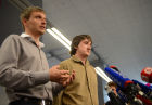 News conference with LifeNews reporters Oleg Sidyakin and Marat Saichenko