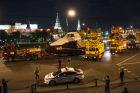 Mockup of Buran spacecraft transported to VDNKh