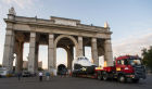 Buran spacecraft model transported to VDNKh