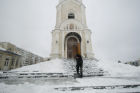Snowfall in Rostov region