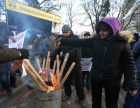Protest rallies near Ukraine's Verkhovna Rada