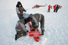 Opening of North Pole 2015 drifting polar station in Arctic Ocean