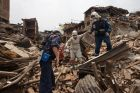 Russian Emergencies Ministry rescuers take part in relief efforts in Nepal