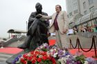 Unveiling monument to Dmitry Shostakovich