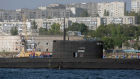 The Novorossiysk submarine arrives in Sevastopol harbor