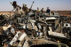 Airbus A321 crash site in Egypt