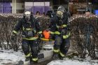 Emergencies Ministry Moscow Department holds drills at Izmailovo hotel's Beta building