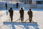 Hockey match in Omsk prison