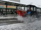 Road deicing in Moscow