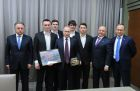 President Vladimir Putin meets with Russian national bandy team