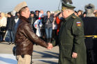 Welcoming ceremony for Russian aircraft returning from Khmeimim airbase, in Primorsko-Akhtarsk