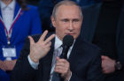 President Vladimir Putin attends Russian Popular Front's media forum, Truth and Justice