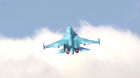 Russia's Sukhoi Su-34 Fullback tactical bombers from Hamadan air base strike ISIS sites in Syria
