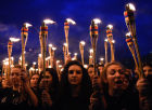 Torchlight procession in Yerevan in memory of Armenian Genocide victims