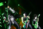 Kiss rock group in concert