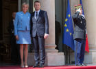 French President-Elect Emmanuel Macron being sworn in
