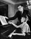 Dmitry Shostakovich with his son