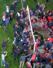 FC Spartak celebrates winning the Championship