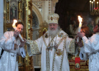Easter service at Moscow's Cathedral of Christ the Savior