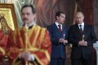 Russian President, PM attend Easter service in Moscow