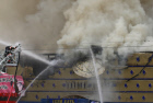 Fire crews battling slot machine club blaze in Moscow