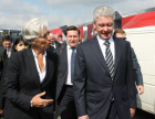 Sergei Sobyanin and Christine Lagard at Le Bourget