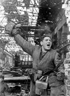 A soldier in Stalingrad battle