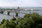 View on Nizhny Novgorod and a bridge over Volga