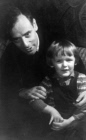 Academician Lev Landau with son