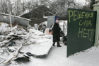 Demolishing houses in Rechnik gardening community