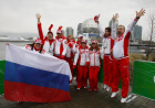 Russian flag raising ceremony in Vancouver