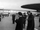 Indian Prime Minister Indira Gandhi in Sheremetyevo Airport