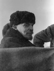 Vladimir Lenin seen in an automobile