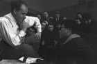 Sergei Eisenstein during lecture