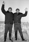 Cosmonauts Yeliseyev and Shatalov after landing