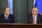 Russian Foreign Affairs Minister meets with UN Secretary-General