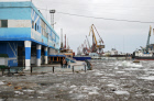 Spring flood in Yakutsk