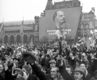 Demonstration of working people on Red Square on November 7
