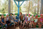 Children rest at Parus recreation camp
