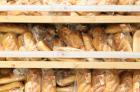 Shelves filled with bread