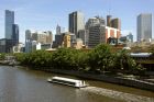 View of Melbourne from Yarra River