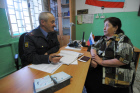 Local police officer of village Koelga
