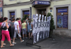 Line for Becherovka liquor factory museum