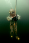 Military divers in training on Lake Baikal