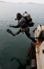 Blasting specialists in a diving rescue squad in Vladivostok