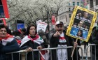 Protest in US against strikes on Syria