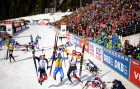 Italy Biathlon Worlds Women Pursuit