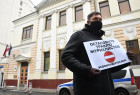 Russia Latvia Reporters Crackdown Protest