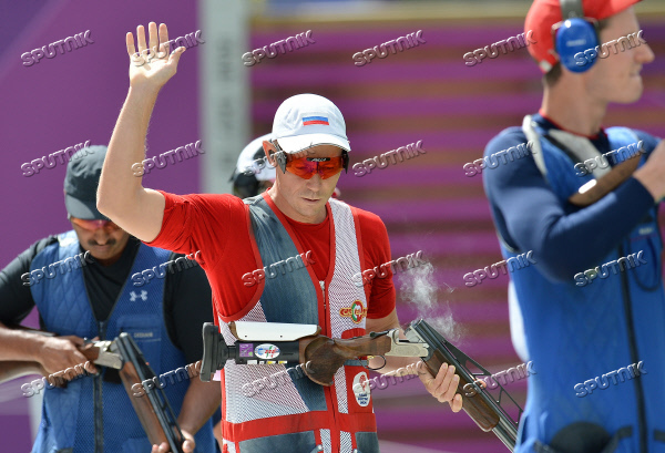 2012 Olympics. Men's double trap shooting