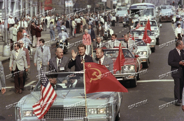 Soviet cosmonauts in Washington